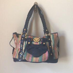 Original by Shariff Multicolored Snake Skin Bag